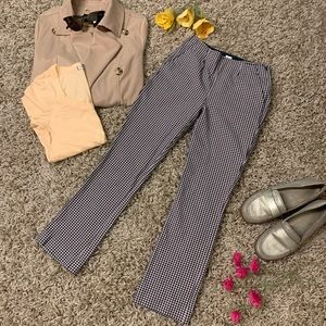 Gap cropped flare pants in gingham print